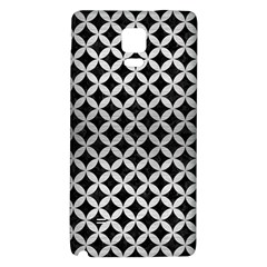 Circles3 Black Marble & Silver Brushed Metal Samsung Note 4 Hardshell Back Case