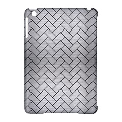 Brick2 Black Marble & Silver Brushed Metal (r) Apple Ipad Mini Hardshell Case (compatible With Smart Cover)