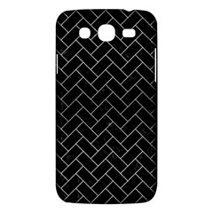 Brick2 Black Marble & Silver Brushed Metal Samsung Galaxy Mega 5 8 I9152 Hardshell Case