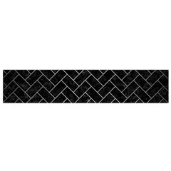 Brick2 Black Marble & Silver Brushed Metal Flano Scarf (small)