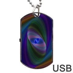 Eye Of The Galactic Storm Dog Tag Usb Flash (one Side)