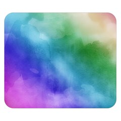 Rainbow Watercolor Double Sided Flano Blanket (small)