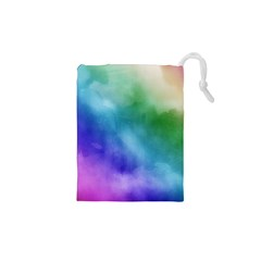 Rainbow Watercolor Drawstring Pouches (XS)