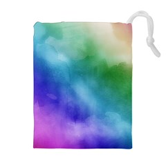 Rainbow Watercolor Drawstring Pouches (Extra Large)