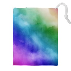 Rainbow Watercolor Drawstring Pouches (XXL)