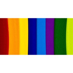 Rainbow Painting On Wood You Are Invited 3d Greeting Card (8x4)
