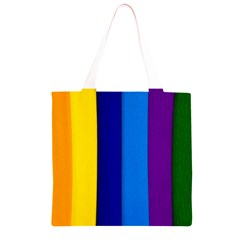 Rainbow Painting On Wood Grocery Light Tote Bag