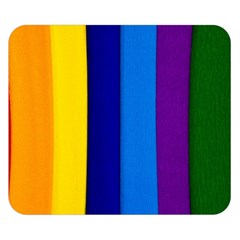 Rainbow Painting On Wood Double Sided Flano Blanket (small)