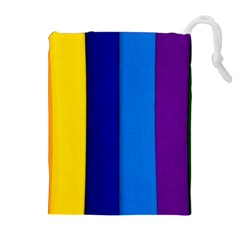 Rainbow Painting On Wood Drawstring Pouches (Extra Large)
