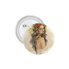 Beauty Of A woman In Watercolor Style 1.75  Buttons
