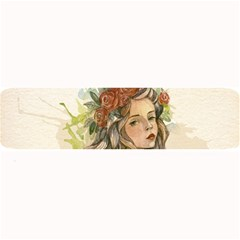 Beauty Of A woman In Watercolor Style Large Bar Mats