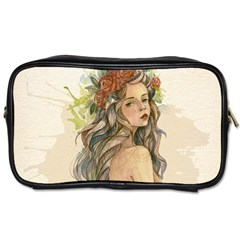Beauty Of A woman In Watercolor Style Toiletries Bags