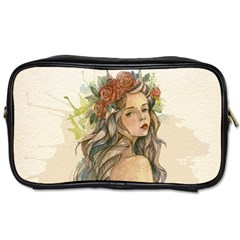Beauty Of A woman In Watercolor Style Toiletries Bags 2-Side