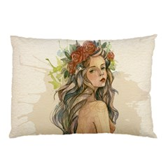 Beauty Of A woman In Watercolor Style Pillow Case (Two Sides)