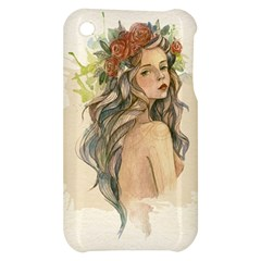 Beauty Of A woman In Watercolor Style Apple iPhone 3G/3GS Hardshell Case