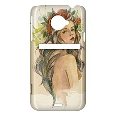 Beauty Of A woman In Watercolor Style HTC Evo 4G LTE Hardshell Case