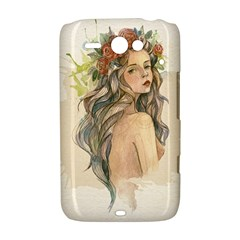 Beauty Of A woman In Watercolor Style HTC ChaCha / HTC Status Hardshell Case