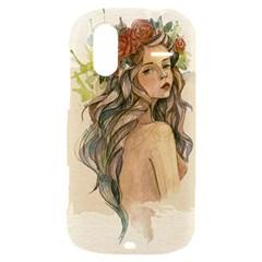 Beauty Of A woman In Watercolor Style HTC Amaze 4G Hardshell Case