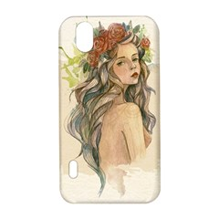 Beauty Of A woman In Watercolor Style LG Optimus P970