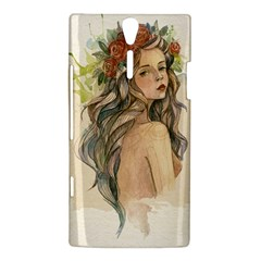 Beauty Of A woman In Watercolor Style Sony Xperia S