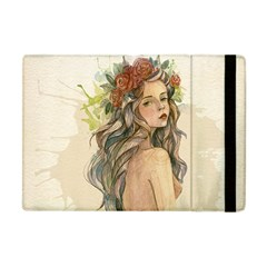 Beauty Of A woman In Watercolor Style Apple iPad Mini Flip Case