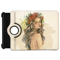 Beauty Of A woman In Watercolor Style Kindle Fire HD Flip 360 Case