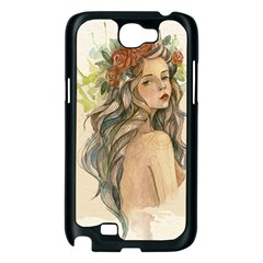 Beauty Of A woman In Watercolor Style Samsung Galaxy Note 2 Case (Black)