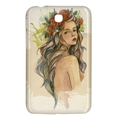 Beauty Of A woman In Watercolor Style Samsung Galaxy Tab 3 (7 ) P3200 Hardshell Case