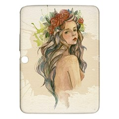 Beauty Of A woman In Watercolor Style Samsung Galaxy Tab 3 (10.1 ) P5200 Hardshell Case
