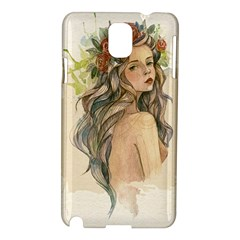 Beauty Of A woman In Watercolor Style Samsung Galaxy Note 3 N9005 Hardshell Case