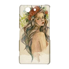 Beauty Of A woman In Watercolor Style Sony Xperia Z3 Compact