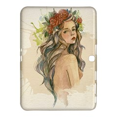 Beauty Of A Woman In Watercolor Style Samsung Galaxy Tab 4 (10 1 ) Hardshell Case