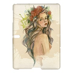 Beauty Of A Woman In Watercolor Style Samsung Galaxy Tab S (10 5 ) Hardshell Case