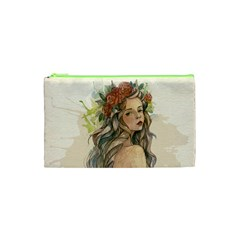 Beauty Of A woman In Watercolor Style Cosmetic Bag (XS)