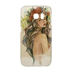 Beauty Of A woman In Watercolor Style Galaxy S6 Edge