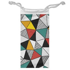 Colorful Geometric Triangles Pattern  Jewelry Bags