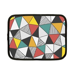 Colorful Geometric Triangles Pattern  Netbook Case (Small)