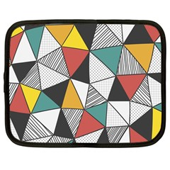 Colorful Geometric Triangles Pattern  Netbook Case (Large)