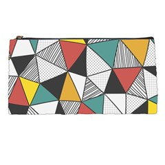 Colorful Geometric Triangles Pattern  Pencil Cases