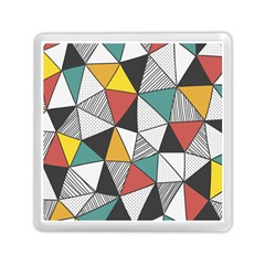 Colorful Geometric Triangles Pattern  Memory Card Reader (Square)