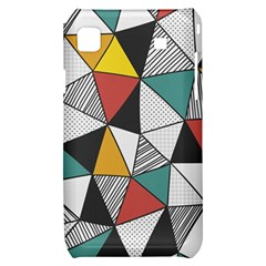 Colorful Geometric Triangles Pattern  Samsung Galaxy S i9000 Hardshell Case