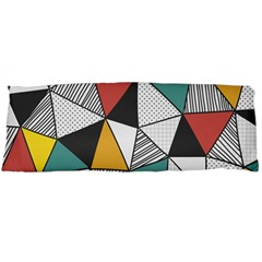 Colorful Geometric Triangles Pattern  Body Pillow Case Dakimakura (Two Sides)