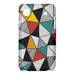 Colorful Geometric Triangles Pattern  Samsung Galaxy SL i9003 Hardshell Case