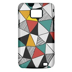 Colorful Geometric Triangles Pattern  Samsung Galaxy S II i9100 Hardshell Case (PC+Silicone)