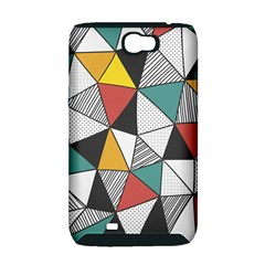 Colorful Geometric Triangles Pattern  Samsung Galaxy Note 2 Hardshell Case (PC+Silicone)