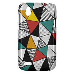 Colorful Geometric Triangles Pattern  HTC Desire V (T328W) Hardshell Case
