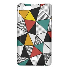 Colorful Geometric Triangles Pattern  Sony Xperia Miro
