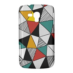 Colorful Geometric Triangles Pattern  Samsung Galaxy Duos I8262 Hardshell Case