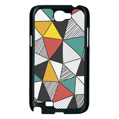 Colorful Geometric Triangles Pattern  Samsung Galaxy Note 2 Case (Black)