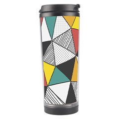 Colorful Geometric Triangles Pattern  Travel Tumbler